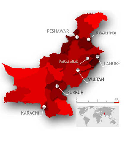 Muazmee Dealer Pakistan Map